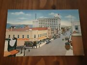 Postcard Nm C.1940's Albuquerque Downtown Woolworths Rt 66