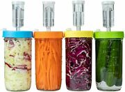 Fermentation Kit, Plastic Fermenter Lid With Airlock For Wide Mouth Mason Jar