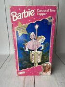 Vintage Barbie Carousel Moving Christmas Tree Topper 1997 Holiday Tested Works