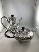 E.g. Webster And Son Ornate Hand Chased Silverplate Coffee Pot And Teapot