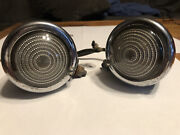 Pair Vintage B-31 Guide Lights W/mounting Brackets