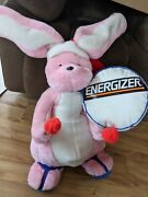 Vintage 38 Plush Stuffed Pink Energizer Bunny With Drum And Sticks