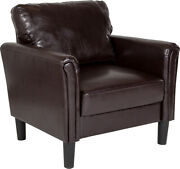 Bari Upholstered Chair In Brown Leathersoft
