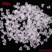 Us 1000pc Heavy Duty Rubber Earring Backs Sleeves Holders Stoppers Nuts Silicone