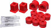 Energy Susp. Sway Bar Bushing Kit Red Front/rear 70.7002r
