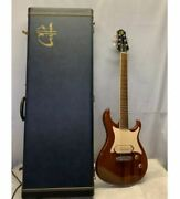 Giffin Model T Black Limba/rosewood Electric Guitar S/n 0707223 With Hard Case