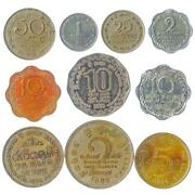 10 Sri Lankan Coins. South Asian Island. Old Collectible Money Rupees 1972-2017