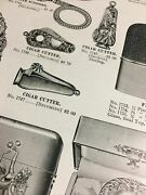 1905 Illustrated Catalog Page Cigar Cutter Cigarette Case French Briar Pipe Ad +