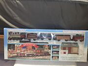 Dickensville Vintage Collectables Christmas Train Set Battery Operated Nob