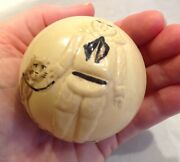 Antique Buster Brown And Tige Celluloid Toy Ball