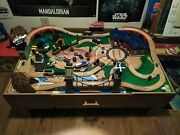 Wooden Table Toy Set Thomas The Train Compatible Kids Railway Track With Sound