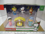 Peanuts Annual Christmas Pageant Nativity Figures Deluxe Set - Nib