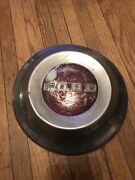 Red 1952 1953 1954 Ford Hubcap Dog Dish Vintage Poverty Cap 10.5in