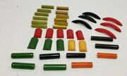 Lot Of 37 Vintage Bakelite Jewelry Beads Buttons Craft Plastic Tested Simichrome