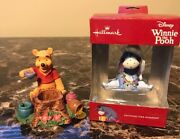 Hallmark Eeyore Ornament And Winnie Pooh Time For A Smackeral Of Friendship Figure