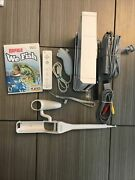 Wii Console With Fishing Rod