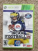 Ncaa Football 14 Xbox 360 Game Great Condition Complete W/manual 🔥