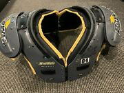 2013 Antonio Brown Pittsburgh Steelers Game Used Signed Shoulder Pads Great Use