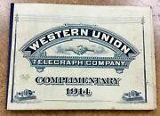 Us 16t45 And 16t46 1914 Western Union Telegraph Booklet 20 Mint Panes Of Stamps