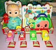 Cocomelon Musical Bedtime Jj Doll + Musical Doctor Checkup Set And 4 Vehicles