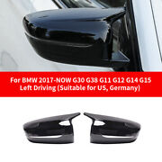 Black Side Rear View Mirror Cover Cap For Bmw G30 G38 G11 G12 G14 G15 2017-up