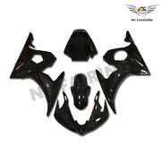 Fit For Injection Gloss Black Blue Fairing Yamaha 2003-05 Yzf R6 Plastic W049