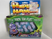 Rare 1998 Hippo Haven By Binary Arts Pack Em Flat Puzzle Sealed In Box