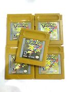 Authentic Pokemon Gold Version Nintendo Gameboy Color Game W/ New Save Battery
