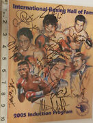 Very Rare Ibhof 2005 Program Cover Signed X10 Mosley Ward Lewis Norris And Coa -