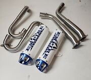 Yamaha Raptor 700 Empire Dual Aftermarket Exhaust System Black Cyclone Pipe Fast