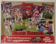 Rare Vintage Promo Poster Jerry Rice Sf 49ers 22x17 And Free '95 Probowl Ballot