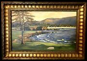Amazing Painting Of Pebble Beach California By Listed Artist, Delia Bradford