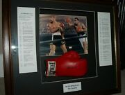 Muhammad Ali 100 Authentic Signed Boxing Glove Framed With Coa