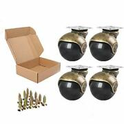 Anyke 1.5 Furniture Casters Small Ball Casters Vintage Antique Glod Cabinet ...