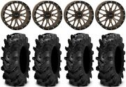 System 3 St-3 Br 18 Wheels 34 Cryptid Tires Can-am Renegade Outlander