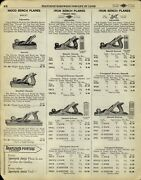 1929 Paper Ad 24 Pg Bailey Stanley Shapleigh Tool Wood Plane Bench Parts Repair