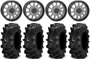 System 3 St-5 15 Wheels Gun Metal 32 Cryptid Tires Can-am Defender