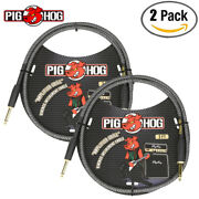 2-pack Pig Hog Pch3ag Amplifier Grill 3ft 1/4 Durable Woven Patch Cable