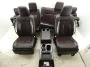 2015-2017 Ford Expedition Platinum Front Rear Interior Seat Set Brunello Brown