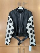 Jean Paul Gaultier Vintage Soccer Ball Leather Bomber 54 New With Tags