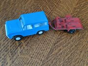 Vintage 1970 Tootsie Toy Ford Bronco And Tootsie Toy 1969 Motorcycle Trailer [vgc]