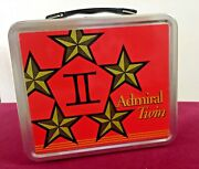 Vintage Admiral Twin Hinged Lunch Box Bucket Red Excellent 7 X 8 X 4