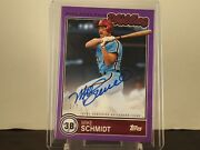 Mike Schmidt 2/7 Topps 2020 Brooklyn Collection Autograph Purple Parallel Auto