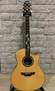Rare Crafter Dg Rose Natural Dragon Inlay Electric Acoustic Guitar And Soft Case
