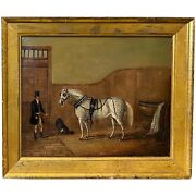 W.m. Fellows British Equestrian Oil Painting St. James Horse 1825