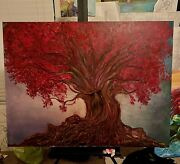 Game Of Thrones Hand Painted Weirwood Tree By Estefania