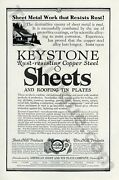 1926 Keystone Sheets And Roofing Tin Vintage Collectible Ad 00359