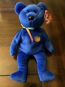Rare Ty Beanie Baby - Clubby 01 Official Club Bear - Mint New Red Stamp