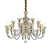 Chandelier Classic Metal And Glass Blown Clear Dl0855