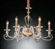 Chandelier Crystal Gold Classic 6 Lights Design Op Lilly
